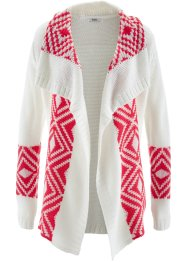 Cardigan, bpc bonprix collection, Bianco panna jacquard