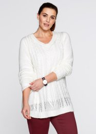 Pullover lungo lucido, bpc bonprix collection