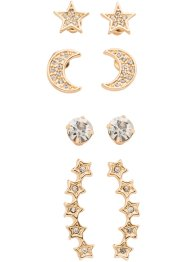 Orecchini (set 8 pezzi), bpc bonprix collection, Color oro