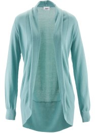 Cardigan a manica lunga, bpc bonprix collection, Blu minerale