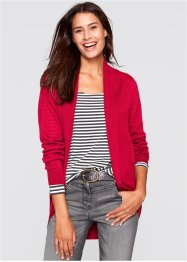 Cardigan a manica lunga, bpc bonprix collection, Rosso scuro