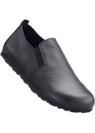 Mocassino in pelle comodo, bpc selection, Nero