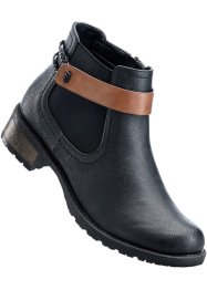 Stivaletto, bpc bonprix collection, Nero / cammello