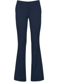 Pantalone business bootcut, BODYFLIRT, Blu scuro