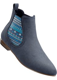 Stivaletto Chelsea in 2 larghezze, bpc bonprix collection, Blu