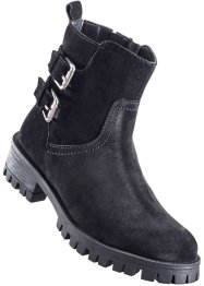 Stivaletto in pelle, bpc bonprix collection, Nero
