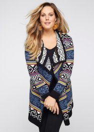 Cardigan, BODYFLIRT boutique, Nero / bianco / blu