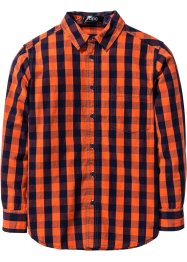 Camicia a quadri, bpc bonprix collection, Blu scuro / rosso aranciato a quadri