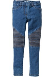 Jeggings in stile biker, John Baner JEANSWEAR, Blu stone