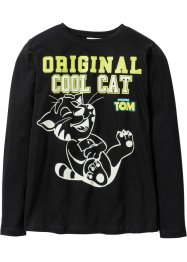 "Maglia fluorescente  a manica lunga ""TALKING TOM"", Talking Tom and Friends, Nero"