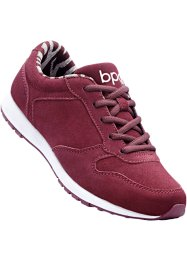 Sneaker di pelle, bpc bonprix collection, Bordeaux