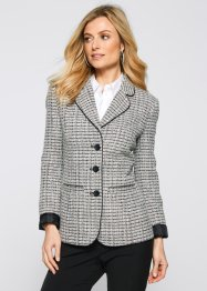 Blazer, bpc selection, Nero / bianco / marrone melange