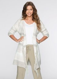 Cardigan, RAINBOW, Beige a righe