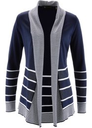 Cardigan, bpc selection, Blu scuro / bianco a righe