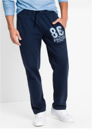 Pantalone in felpa regular fit, bpc bonprix collection, Blu scuro