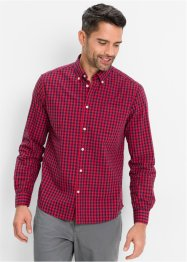 Camicia a quadri a manica lunga regular fit, bpc bonprix collection, Rosso / blu scuro a quadri