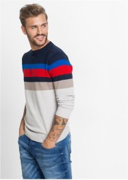 Pullover slim fit, RAINBOW, A righe colorate