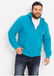 Giacca in felpa con cappuccio regular fit, bpc bonprix collection, Turchese