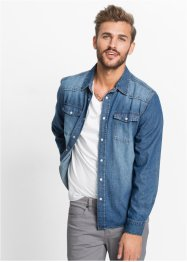 Camicia di jeans slim fit, RAINBOW, Blu stone used