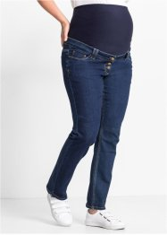 Jeans prémaman dritto con bottoni, bpc bonprix collection, Dark blu stone