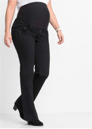 Pantalone prémaman bootcut con bottoni, bpc bonprix collection, Nero