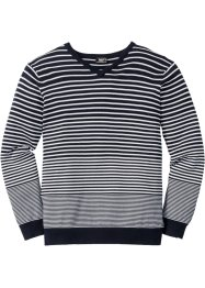Pullover a righe con scollo a V regular fit, bpc bonprix collection