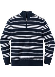 Pullover a righe con cerniera regular fit, bpc selection