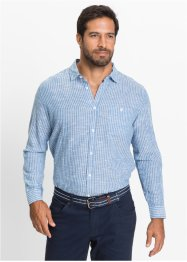 Camicia a righe regular fit, bpc selection, Blu / bianco a righe