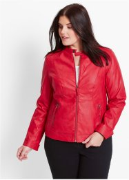 Giacca in similpelle, bpc bonprix collection, Rosso