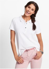 Polo in piquet, bpc bonprix collection, Bianco