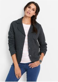 Blazer in felpa, bpc bonprix collection, Antracite melange