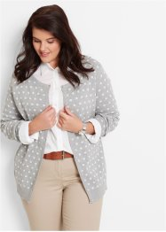 Cardigan, bpc bonprix collection, Albicocca / bianco a pois