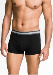 Boxer (pacco da 3) in cotone biologico, bpc bonprix collection, Nero