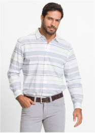 Camicia a righe regular fit, bpc selection, Blu scuro / bianco a righe