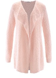 Cardigan lungo, bpc bonprix collection, Rosa perlato