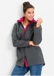 Giacca in softshell, bpc bonprix collection, Antracite