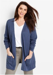 Cardigan a manica lunga, bpc bonprix collection, Indaco