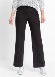Pantalone elasticizzato in bengalin, bpc bonprix collection, Nero