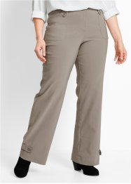 Pantalone elasticizzato in bengalin, bpc bonprix collection, Marroncino