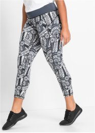 Leggings funzionale 7/8, bpc bonprix collection, Nero fantasia