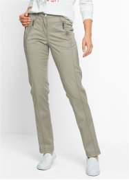 Pantaloni chino elasticizzati, bpc bonprix collection, Kaki scuro