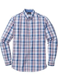Camicia a quadri regular fit, bpc selection, Blu / bianco a quadri