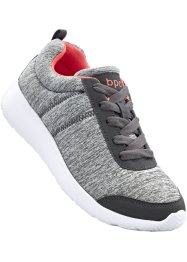 Sneaker, bpc bonprix collection, Grigio / corallo