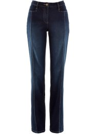 Jeans elasticizzato con cinta regolabile, bpc bonprix collection, Dark denim