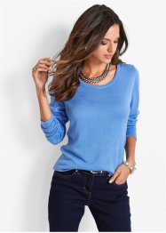 Pullover con bottoni, bpc selection, Blu medio