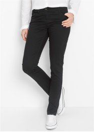"Pantalone in cotone elasticizzato ""Straight"", bpc bonprix collection, Nero"