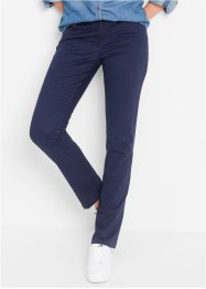 "Pantalone in cotone elasticizzato ""Straight"", bpc bonprix collection, Blu scuro"