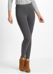 Leggings elasticizzati (pacco da 2), bpc bonprix collection, Antracite melange + nero