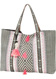 Borsa shopper in fantasia etnica, bpc bonprix collection, Multicolore