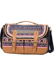 "Borsa a tracolla ""Multicolor"", bpc bonprix collection, Marrone / fucsia / crema / rosso / nero"